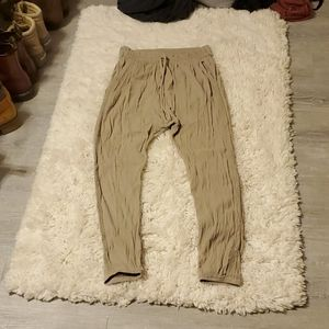 Aerie Tan Harem Pants